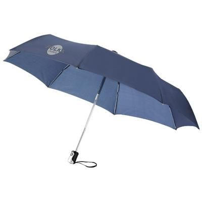 21 INCH 3-SECTION AUTO OPEN AND CLOSE UMBRELLA in Navy