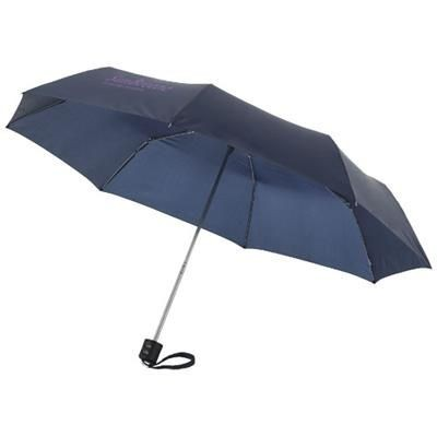21 INCH IDA 3-SECTION UMBRELLA in Navy
