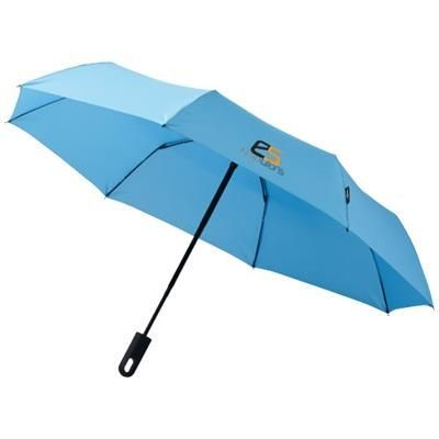 21 INCH TRAVELLER 3-SECTION AUTO OPEN & CLOSE UMBRELLA in Blue