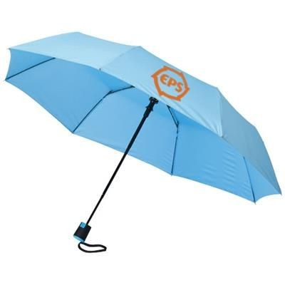 21 INCH WALI 3-SECTION AUTO OPEN UMBRELLA in Blue