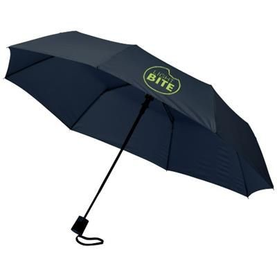 21 INCH WALI 3-SECTION AUTO OPEN UMBRELLA in Navy