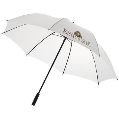 23 INCH BARRY AUTOMATIC UMBRELLA in White Solid