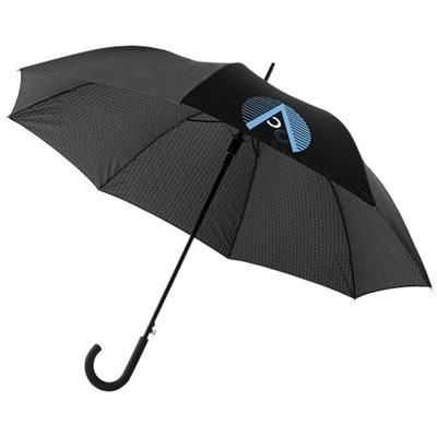 27 INCH CARDEW DOUBLE LAYER AUTOMATIC UMBRELLA in Black Solid