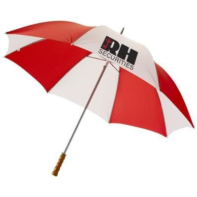30 INCH KARL GOLF UMBRELLA in Red-white Solid