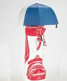 GOLF BAG UMBRELLA in Blue & White